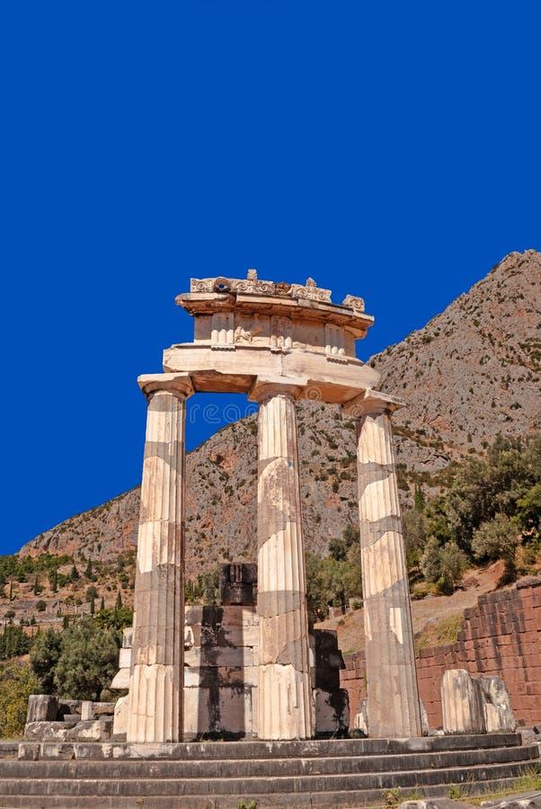 雅典娜pronoia寺庙在特尔斐 库存照片