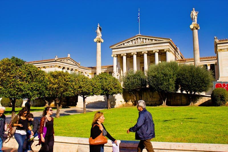 雅典学警系列在雅典,希腊 免版税库存照片