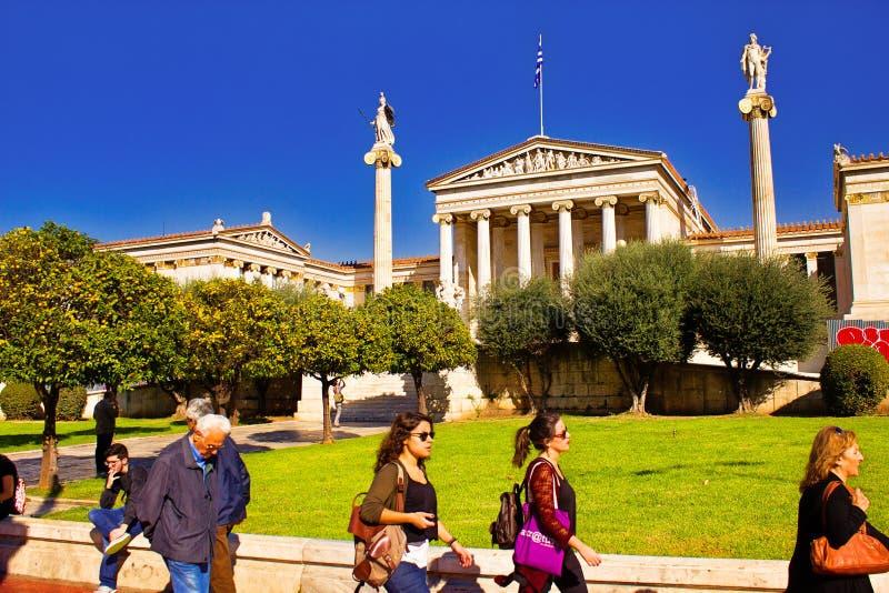 雅典学警系列在雅典,希腊 库存照片
