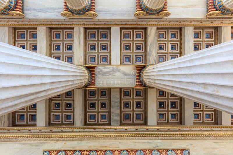 雅典学院天花板细节 图库摄影
