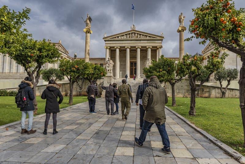 雅典学院,希腊 图库摄影