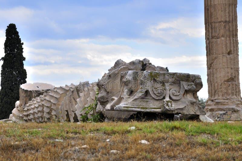 雅典寺庙宙斯 免版税库存照片
