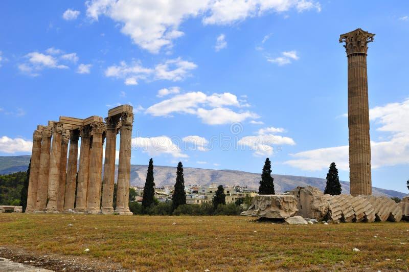 雅典寺庙宙斯 库存照片