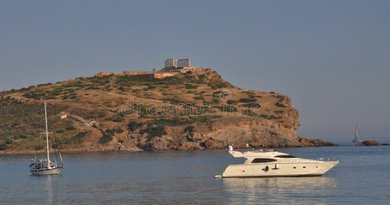 雅典小船希腊sounion二 免版税库存照片