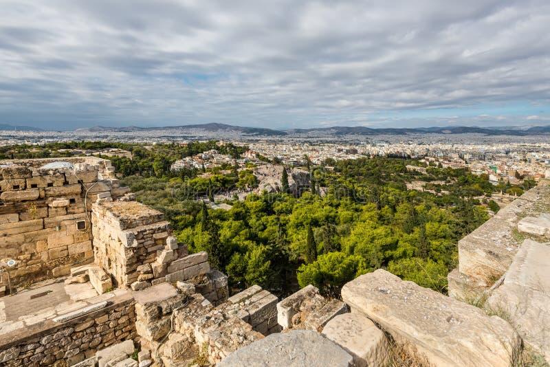 雅典希腊全景 图库摄影