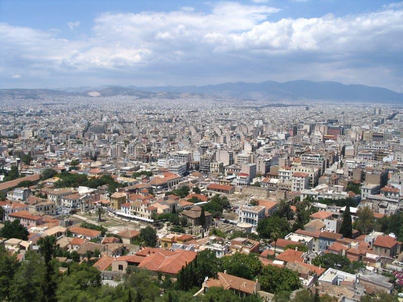 雅典希腊全景 免版税库存照片