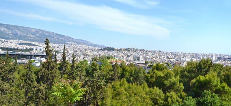 雅典希腊全景  库存图片