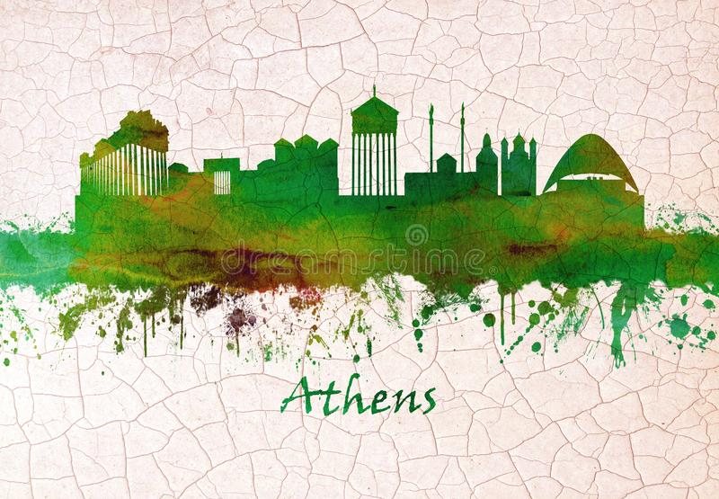 雅典希腊地平线 皇族释放例证