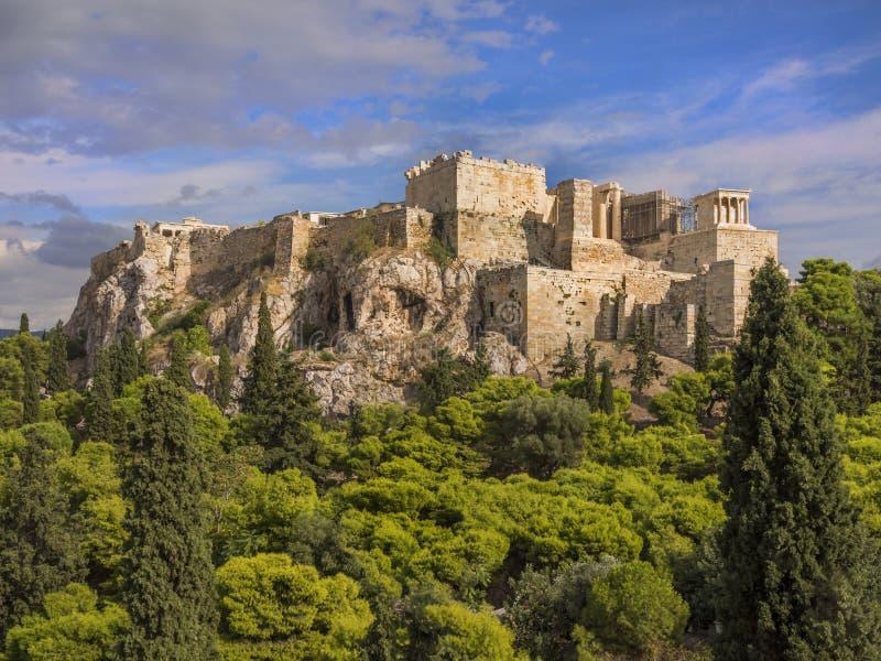 雅典希腊帕台农神庙寺庙 免版税库存照片