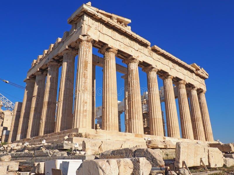 雅典希腊帕台农神庙 免版税库存图片