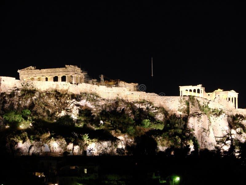 雅典晚上 免版税库存图片