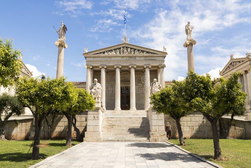 雅典科学院,希腊 图库摄影