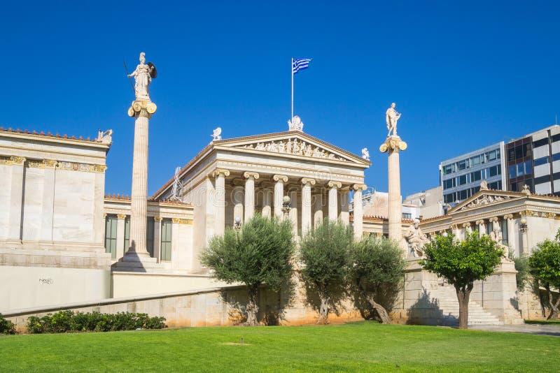 雅典科学院-希腊 免版税库存图片