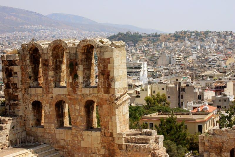 雅典视图 免版税图库摄影