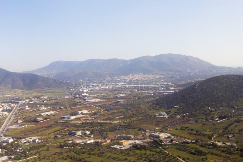 雅典郊外和风景 免版税库存图片
