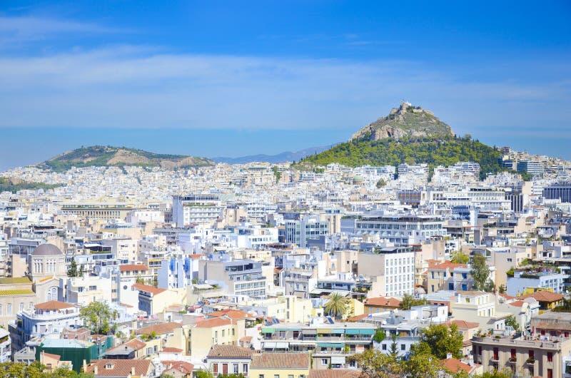 雅典,希腊全景 图库摄影