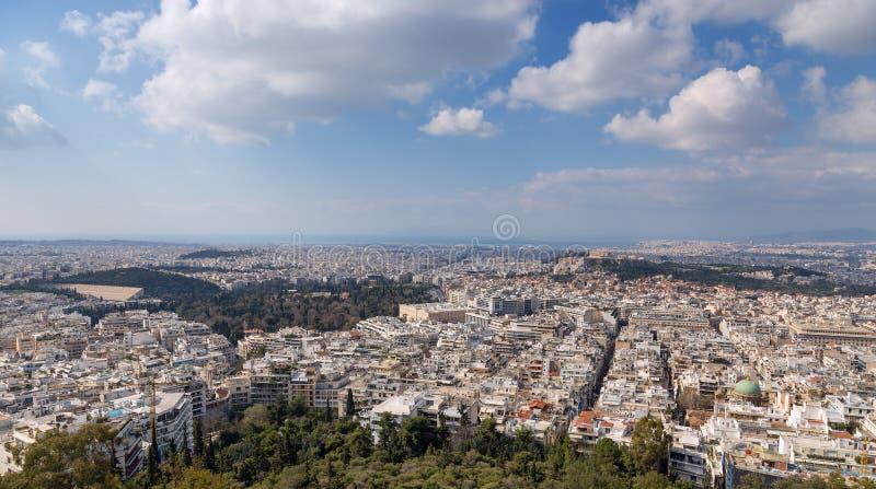 雅典,希腊全景  库存照片
