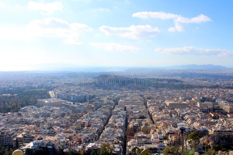 雅典,希腊城市视图  免版税库存照片