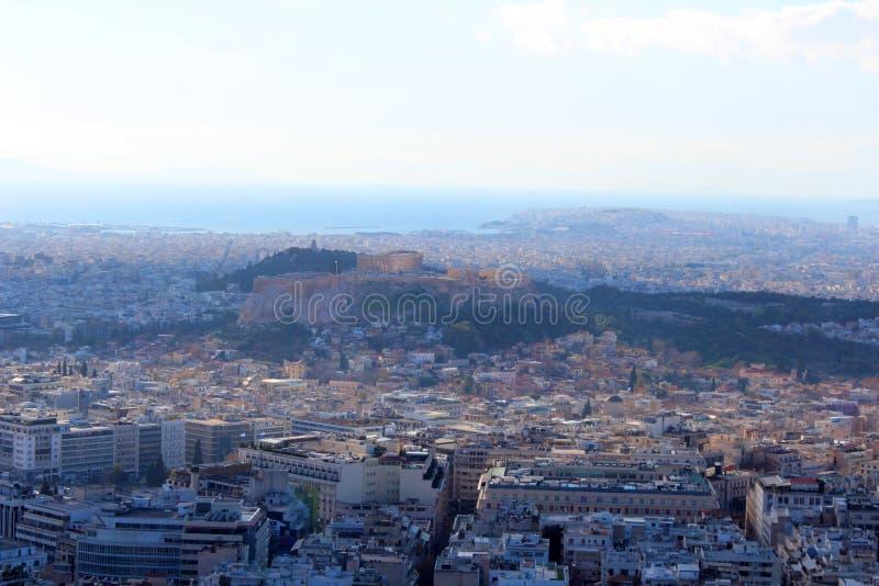 雅典,希腊城市视图  库存照片