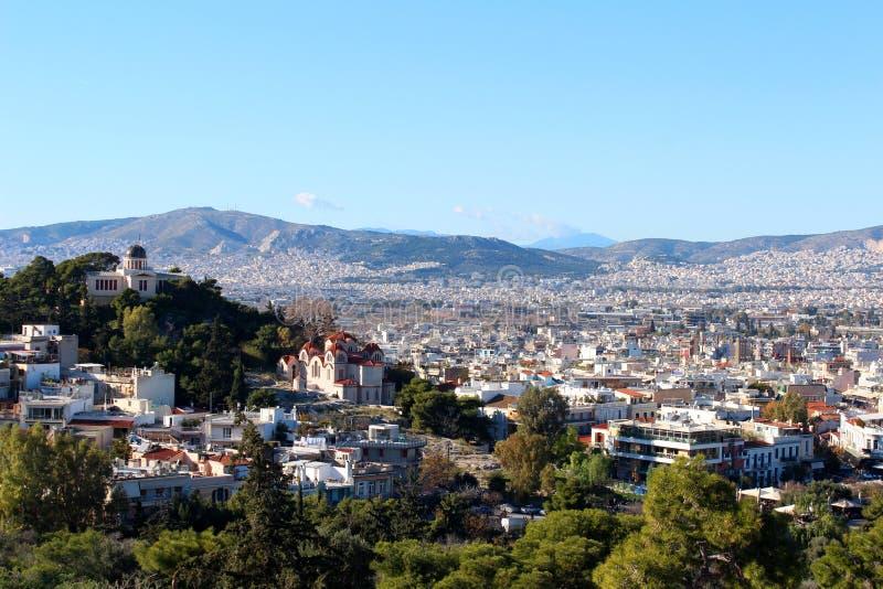 雅典,希腊城市视图  免版税图库摄影