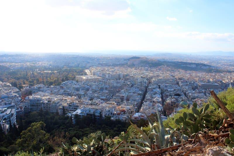 雅典,希腊城市视图  免版税库存图片