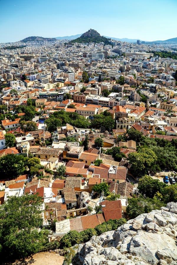 雅典,希腊,从帕台农神庙的射击 免版税库存图片