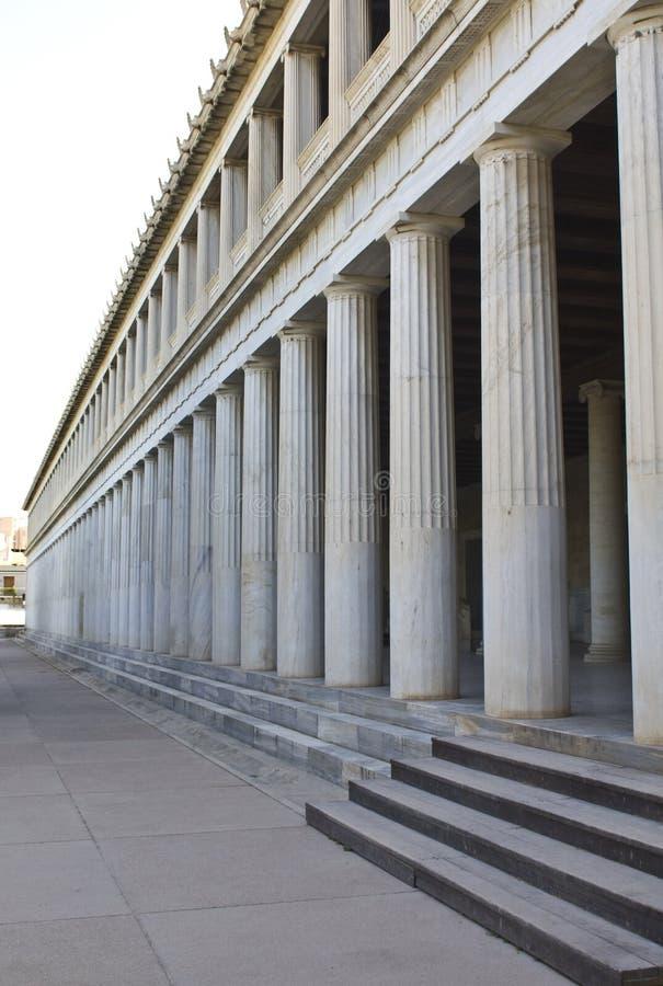 雅典attalos希腊stoa 免版税库存照片