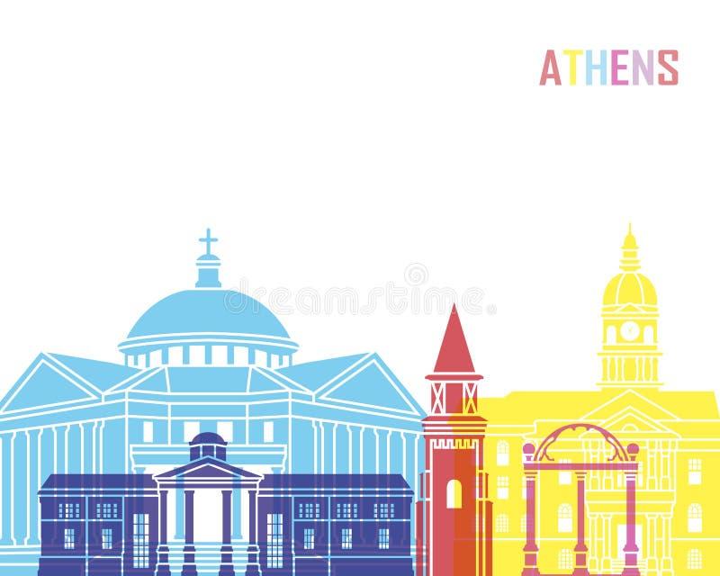 雅典GA地平线流行音乐 向量例证