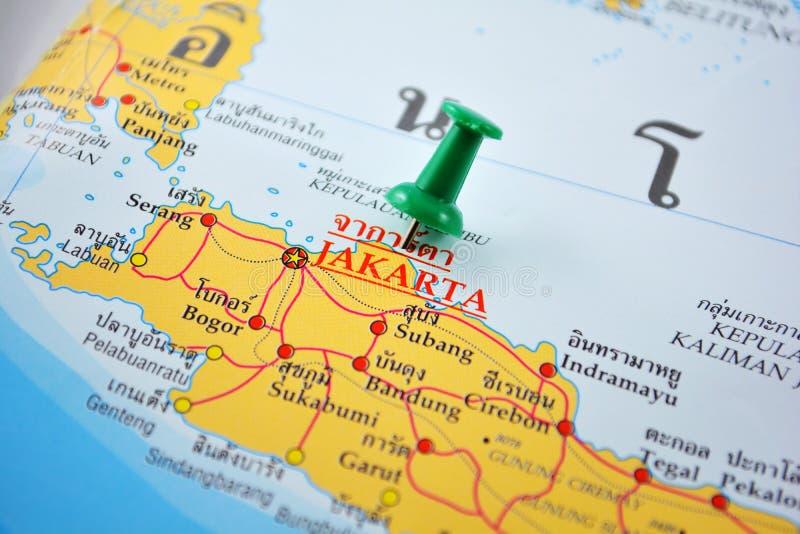 雅加达地图 免版税库存照片