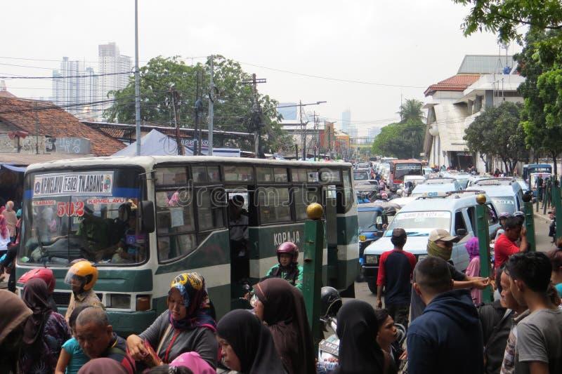 雅加达堵塞业务量 免版税库存图片