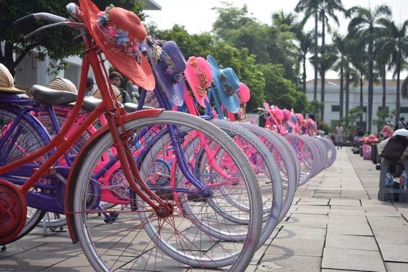雅加达自行车  免版税库存照片