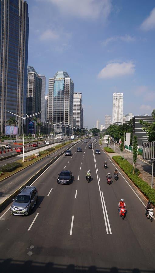 雅加达苏迪曼中央商务区 免版税库存图片