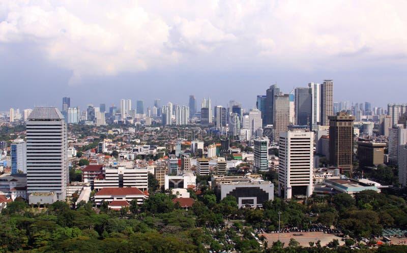 雅加达都市风景 免版税库存照片