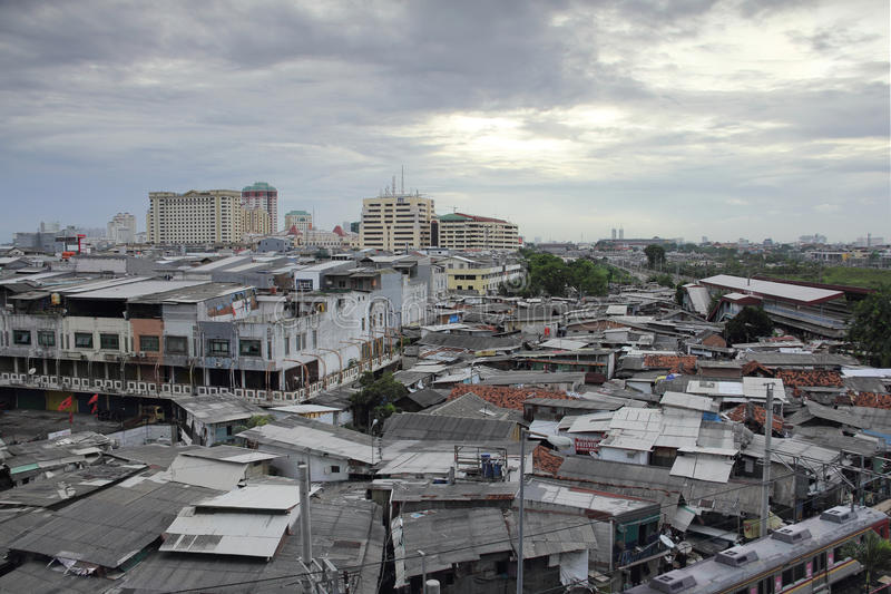 雅加达, 2016年12月5日, 密集地居住于的区域 都市城市 库存照片