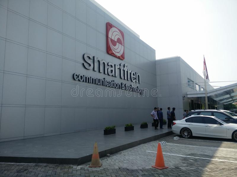雅加达/印度尼西亚7月15日2019 smartfren总公司,sabang雅加达 库存照片