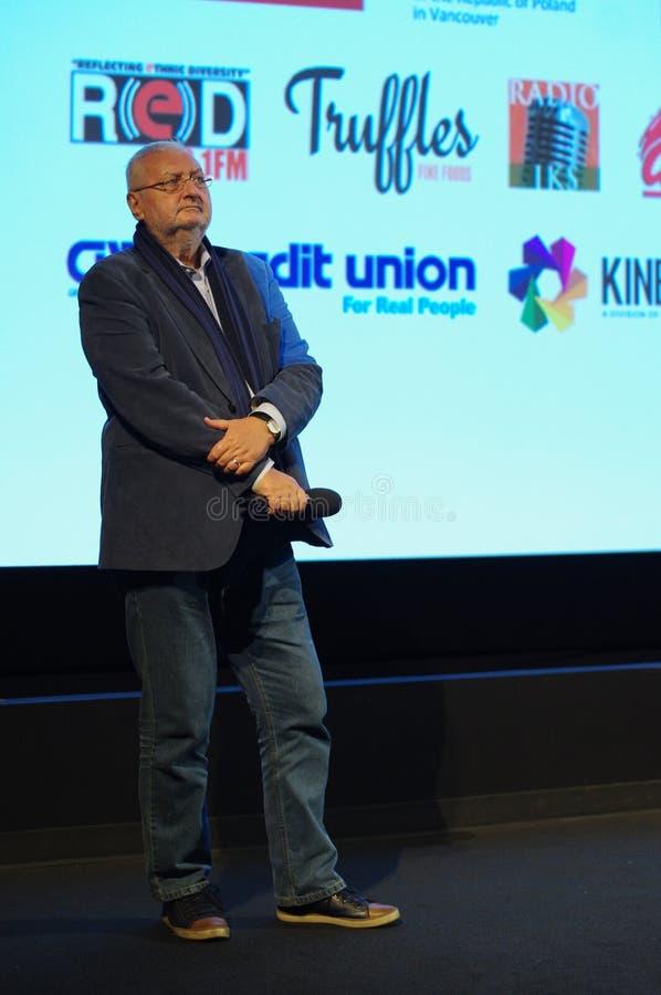 雅努什Zaorski,一个波兰电影导演 图库摄影