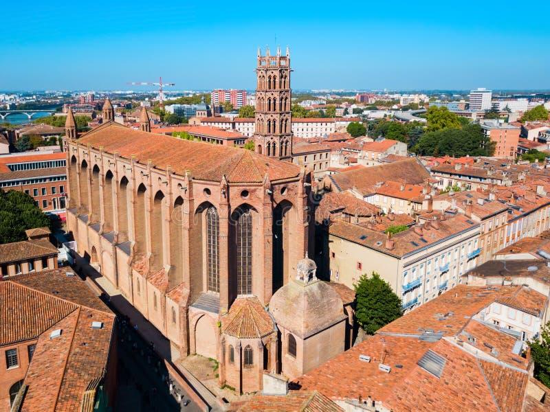 雅可宾党教会在图卢兹,法国 库存图片