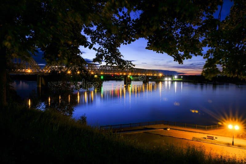 雅罗斯拉夫尔市夜 免版税图库摄影