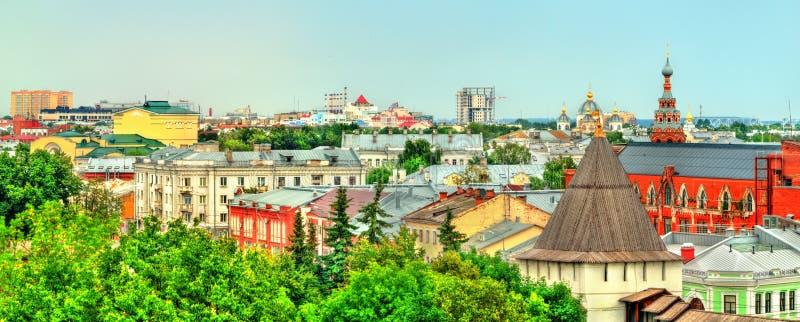 雅罗斯拉夫尔市镇地平线在俄罗斯 免版税库存图片
