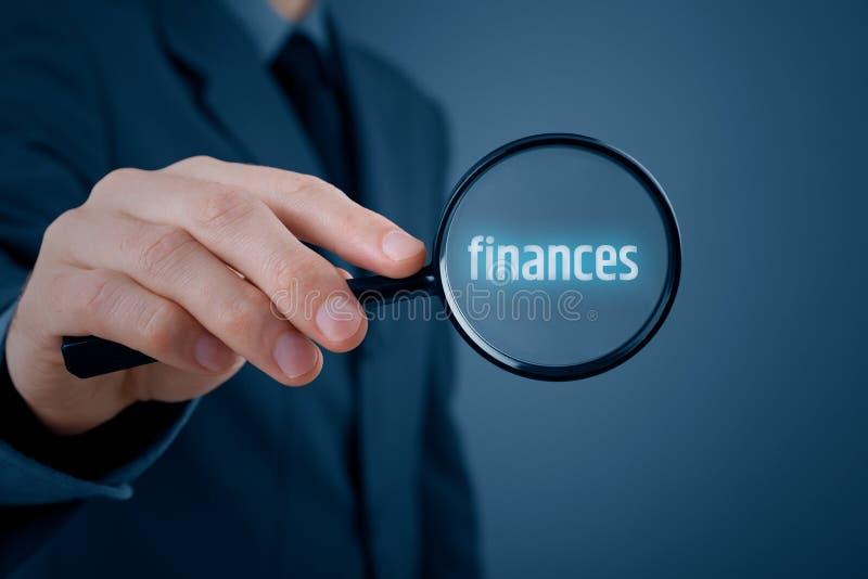 集中于财务 免版税库存照片