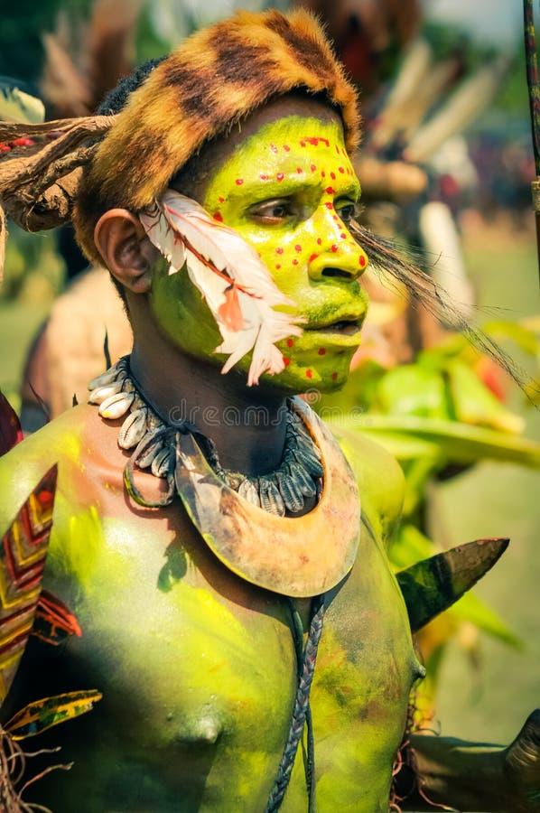 集中在巴布亚新几内亚 库存照片