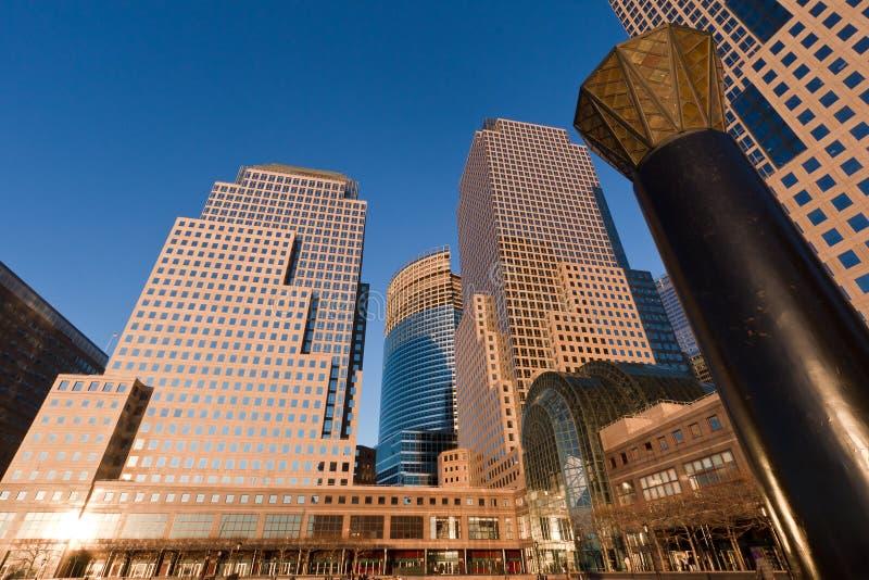 集中城市财务新的世界约克 免版税库存照片