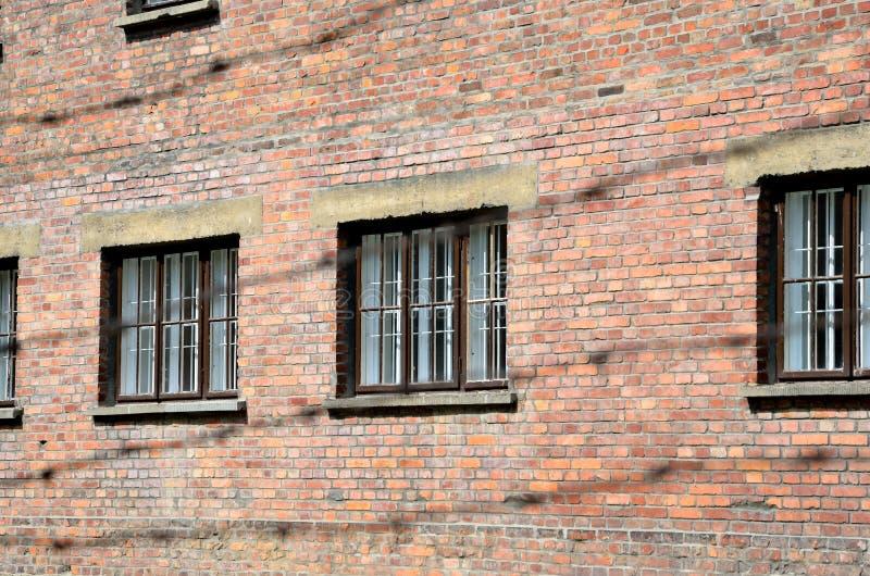 集中营在奥斯威辛,波兰 免版税库存照片