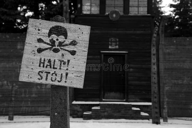 集中营在奥斯威辛 免版税库存图片