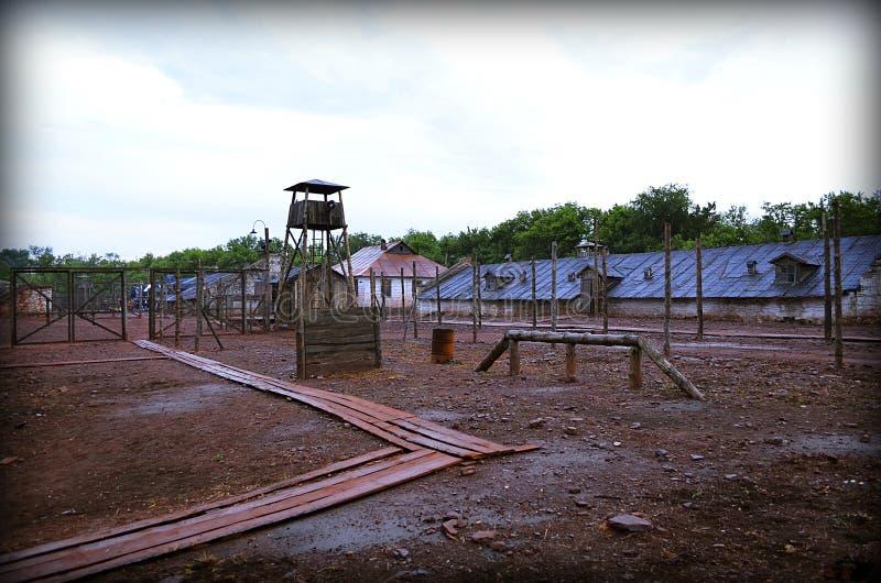 集中营的主要门 免版税库存图片