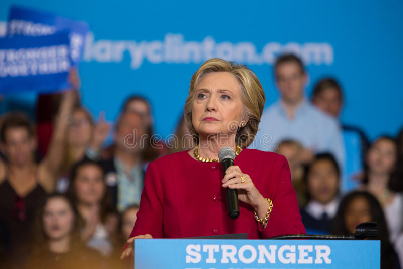 集会的克林顿秘书在哈里斯堡PA 免版税库存照片