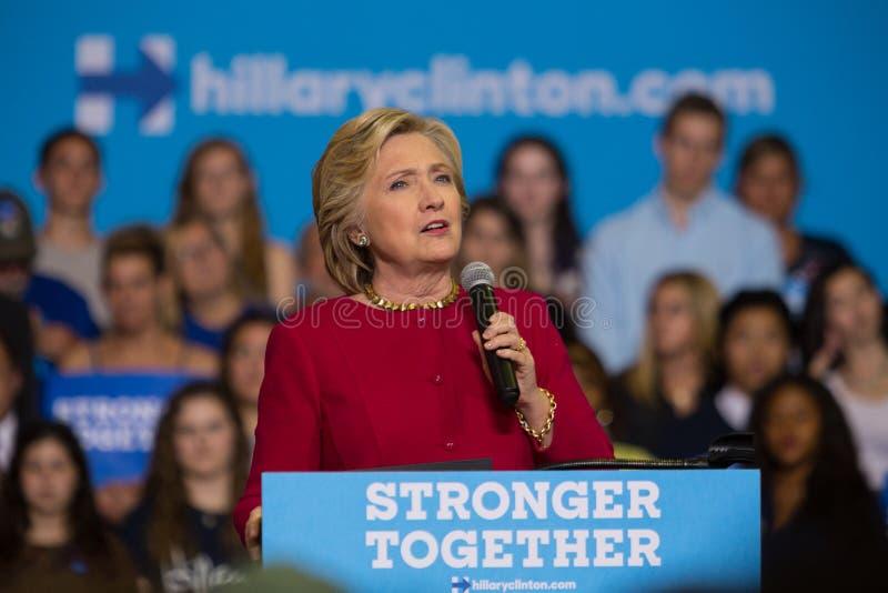 集会的希拉里・克林顿秘书在PA 免版税库存照片