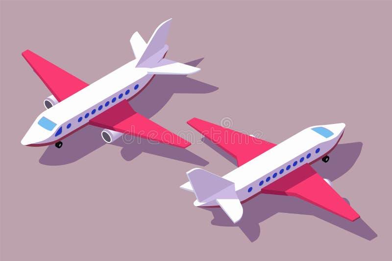 集合前面和后面看法飞机运输的航空 皇族释放例证