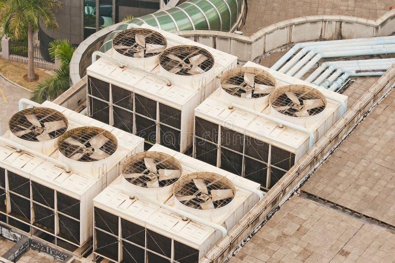 集合大厦冷却 免版税库存图片
