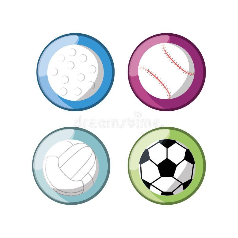 集合平的象球体育 向量例证